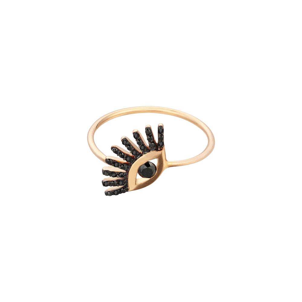 Big Evil Eye Ring - Black Diamond