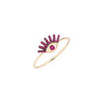 Small Evil Eye Ring - Ruby