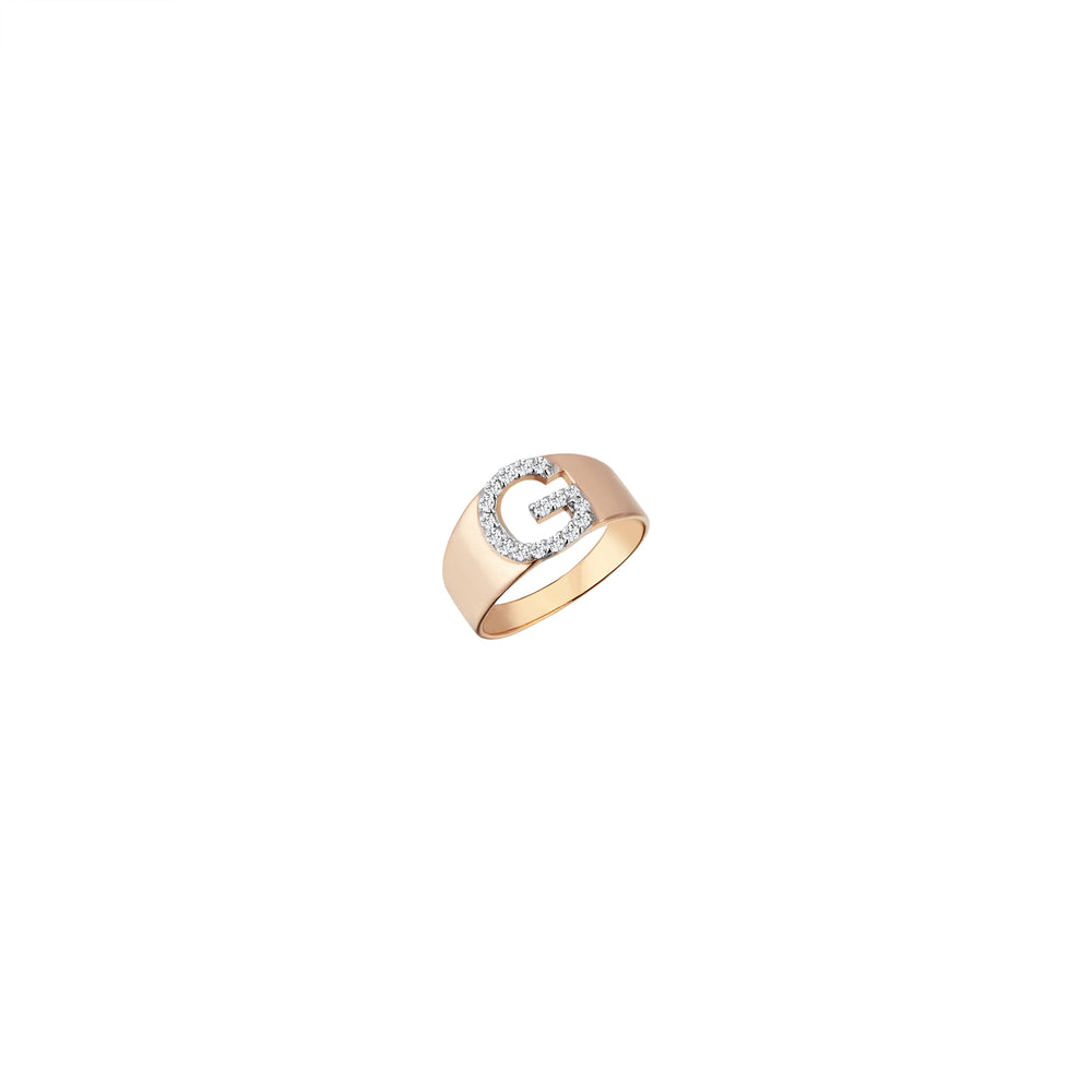 G Mini Ring - White Diamond