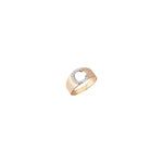 C Mini Ring - White Diamond