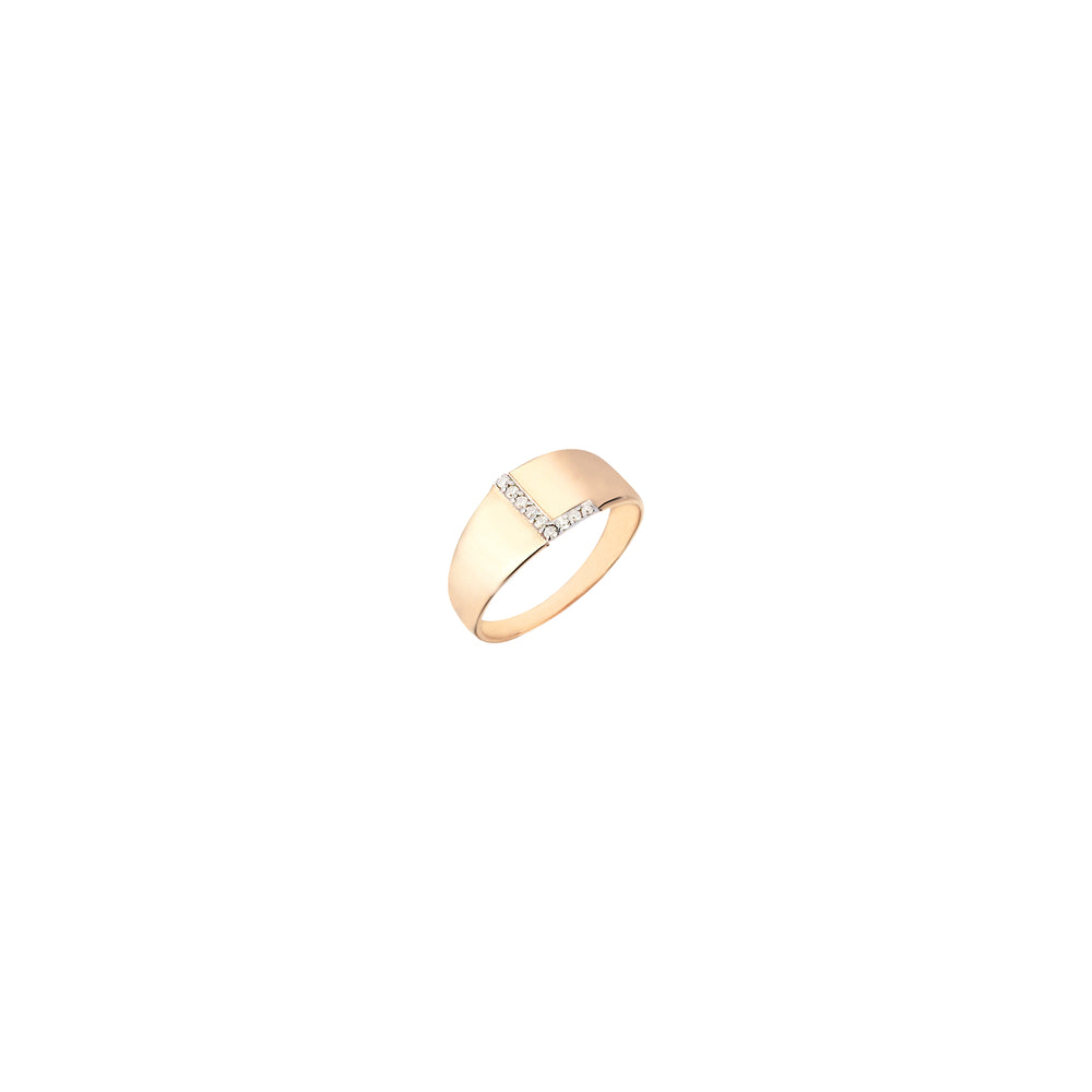 L Mini Ring - White Diamond