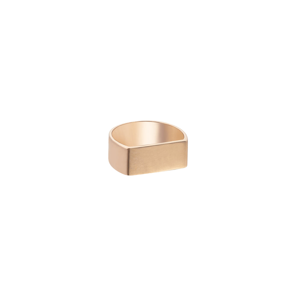 Flat Rectangle Ring - Gold