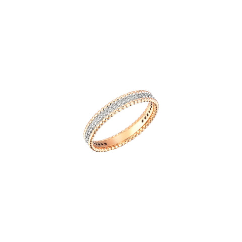 Beaded Ball Eternity Single Row Band