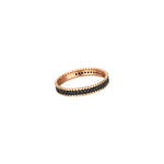 Beaded Ball Eternity Single Row Band - Black Diamond