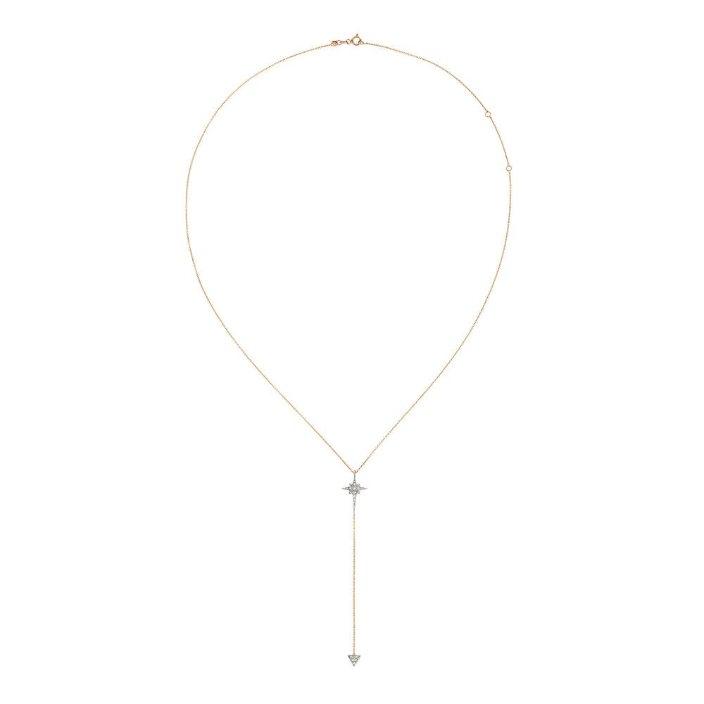 Kismet Star Lariat Necklace - White Diamond