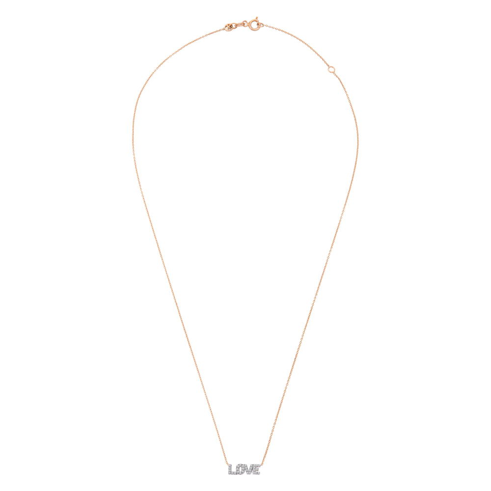 LOVE Necklace - White Diamond