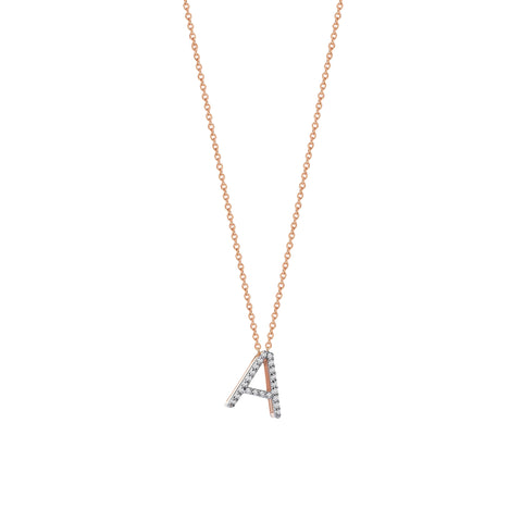 A Cubic Big Size Necklace - White Diamond