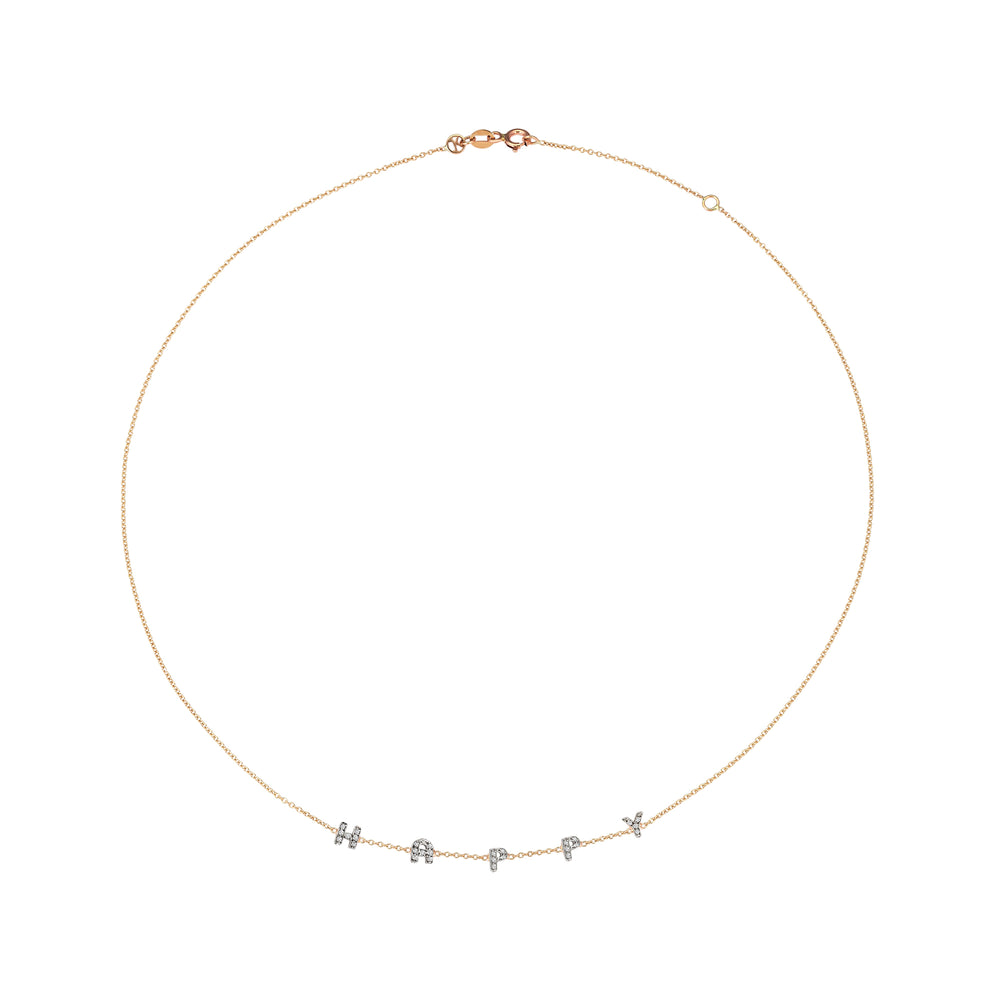 Big Happy Necklace - White Diamond