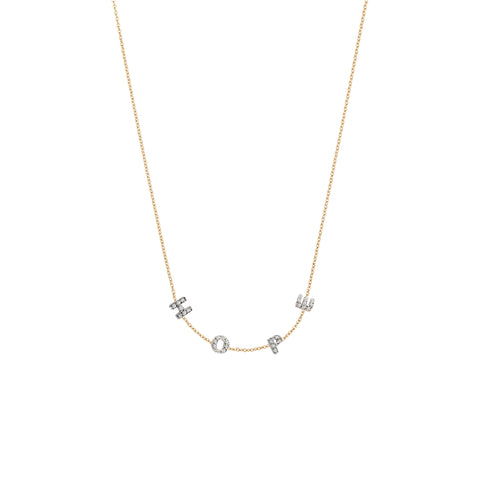 H-O-P-E Necklace - White Diamond