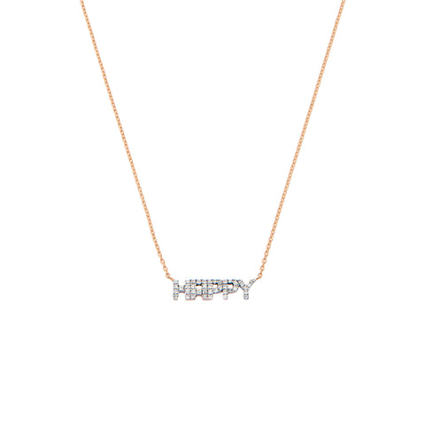 HAPPY Necklace - White Diamond
