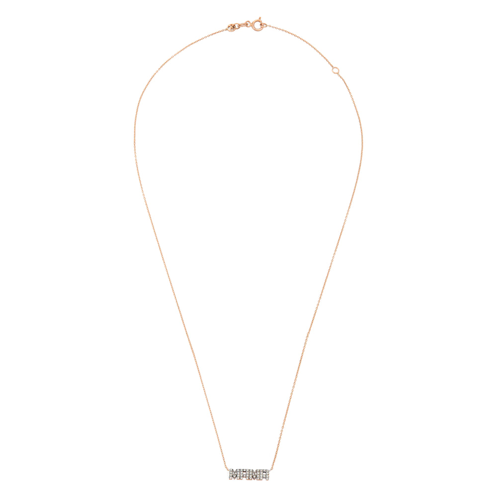 MAMA Necklace - White Diamond