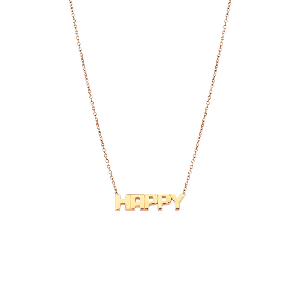 HAPPY Necklace - Gold
