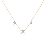 Struck Trio Star Necklace