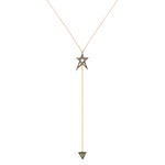 Struck Doodle Star Lariat Necklace
