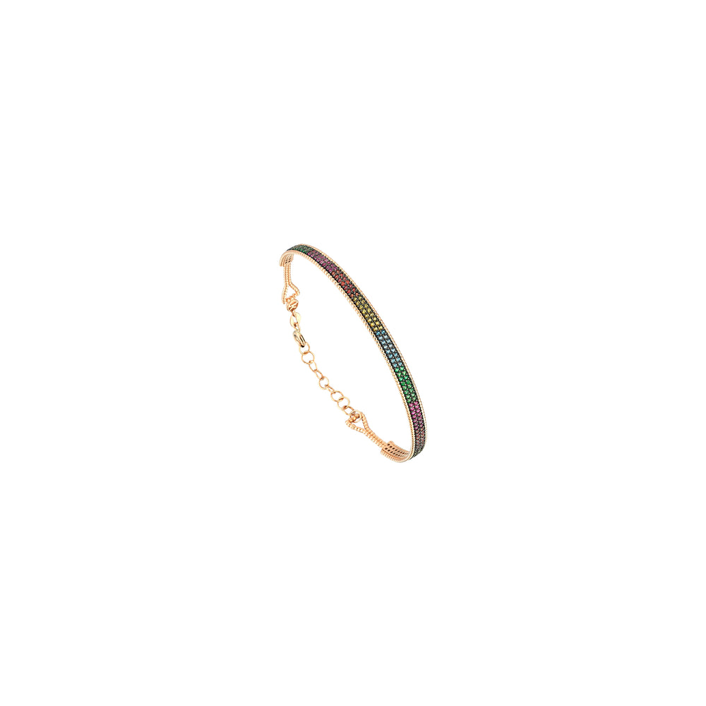 Rainbow Multicolour Bangle With Strips