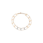 Chevron Choker Anklet - White Diamond