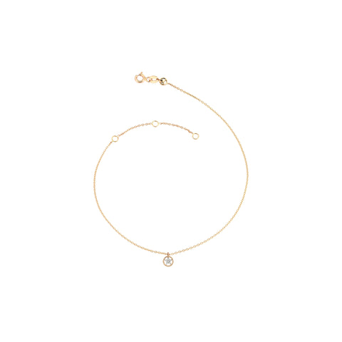 Mini Circle Sheriff Star Anklet