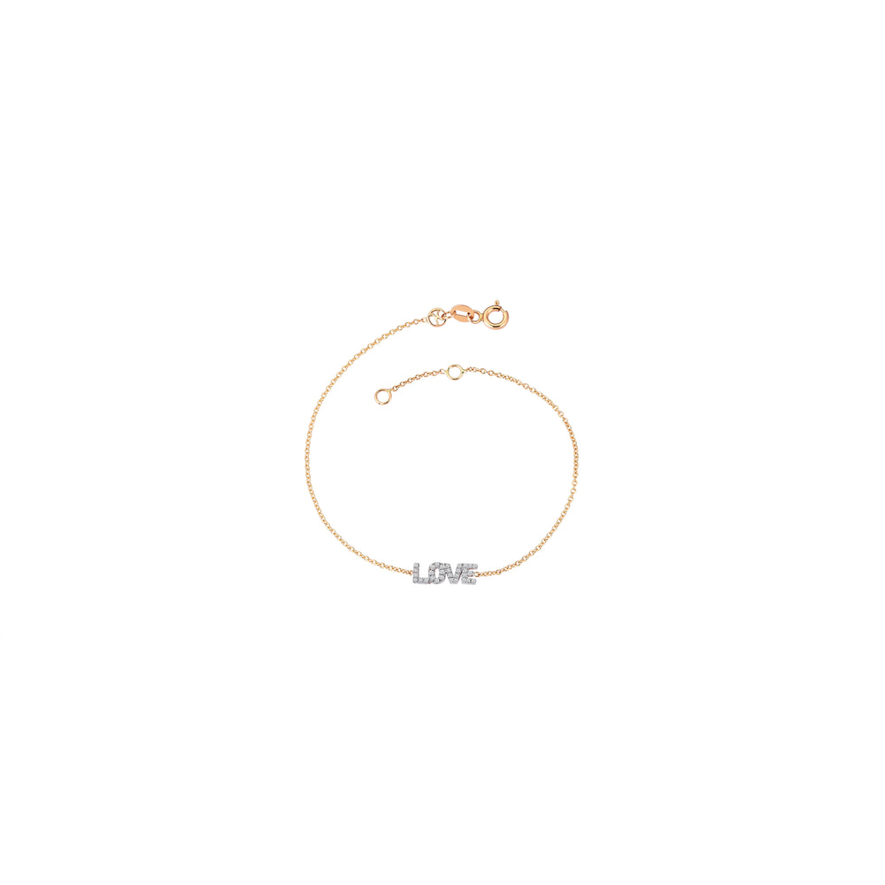 LOVE Bracelet - White Diamond