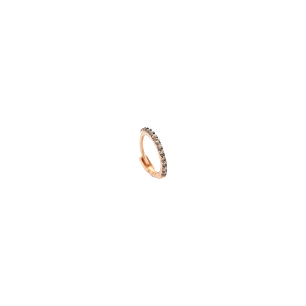 Tiny Hoop (Single) - Champagne Diamond (0.06ct)