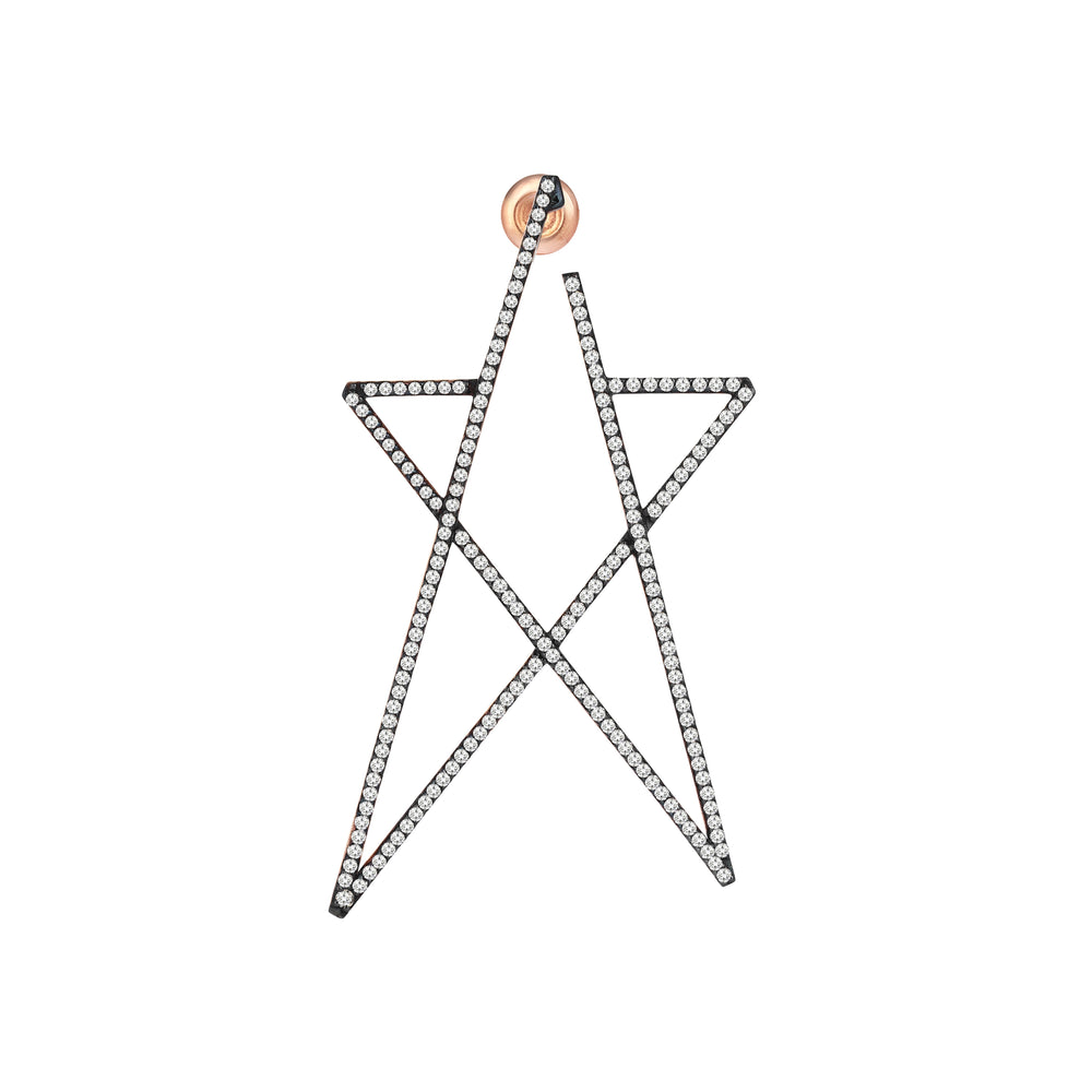 Struck Doodle Star Large Earring (Single)