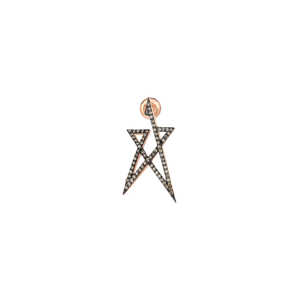 Struck Doodle Star Small Earring (Single)