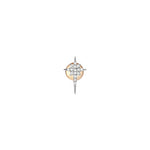 K Star Earring Small Size (Single)- White Diamond
