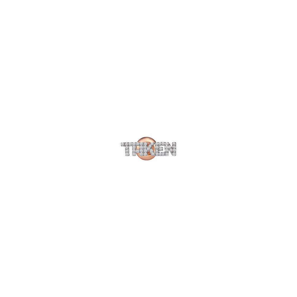 TAKEN Stud Earring (Single) - White Diamond