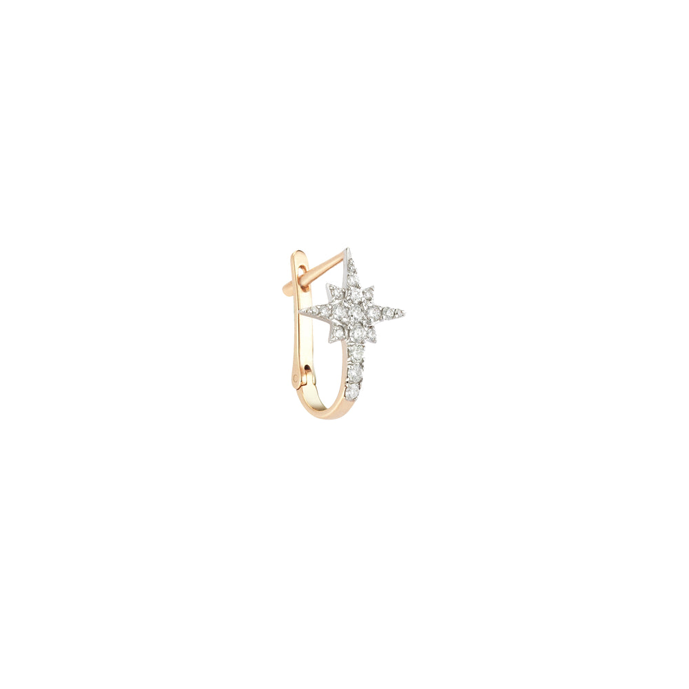 K Star Earring (Single) - White Diamond