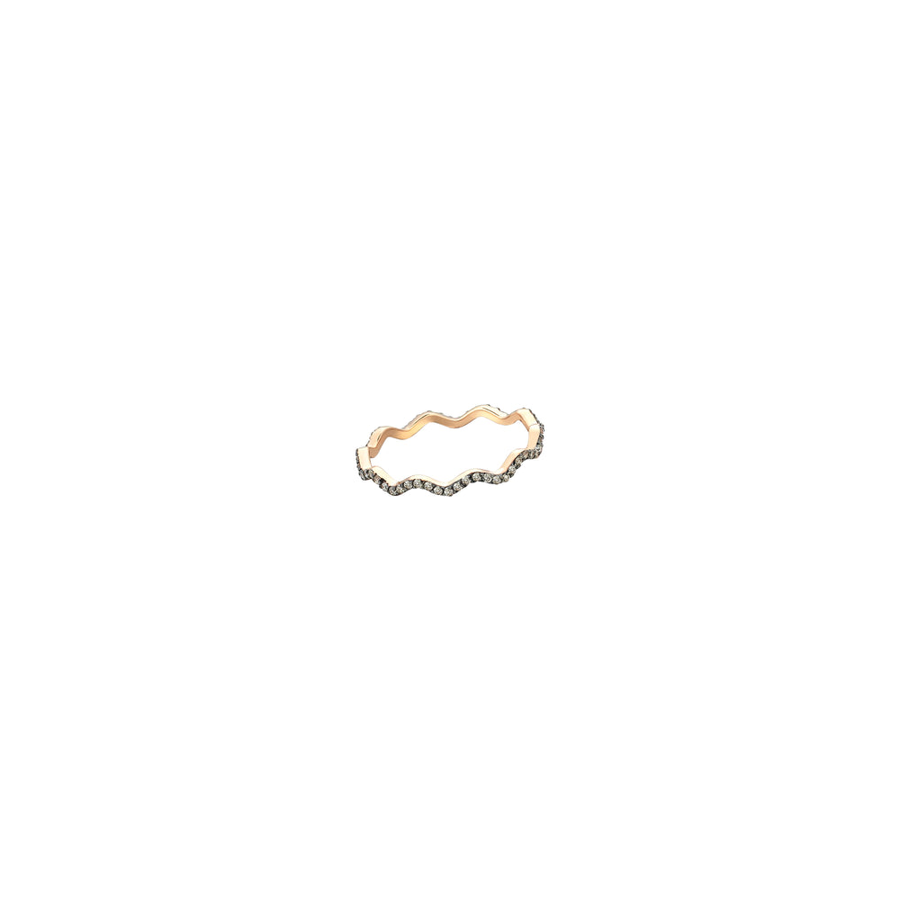 Zigzag Ring - Champagne Diamond