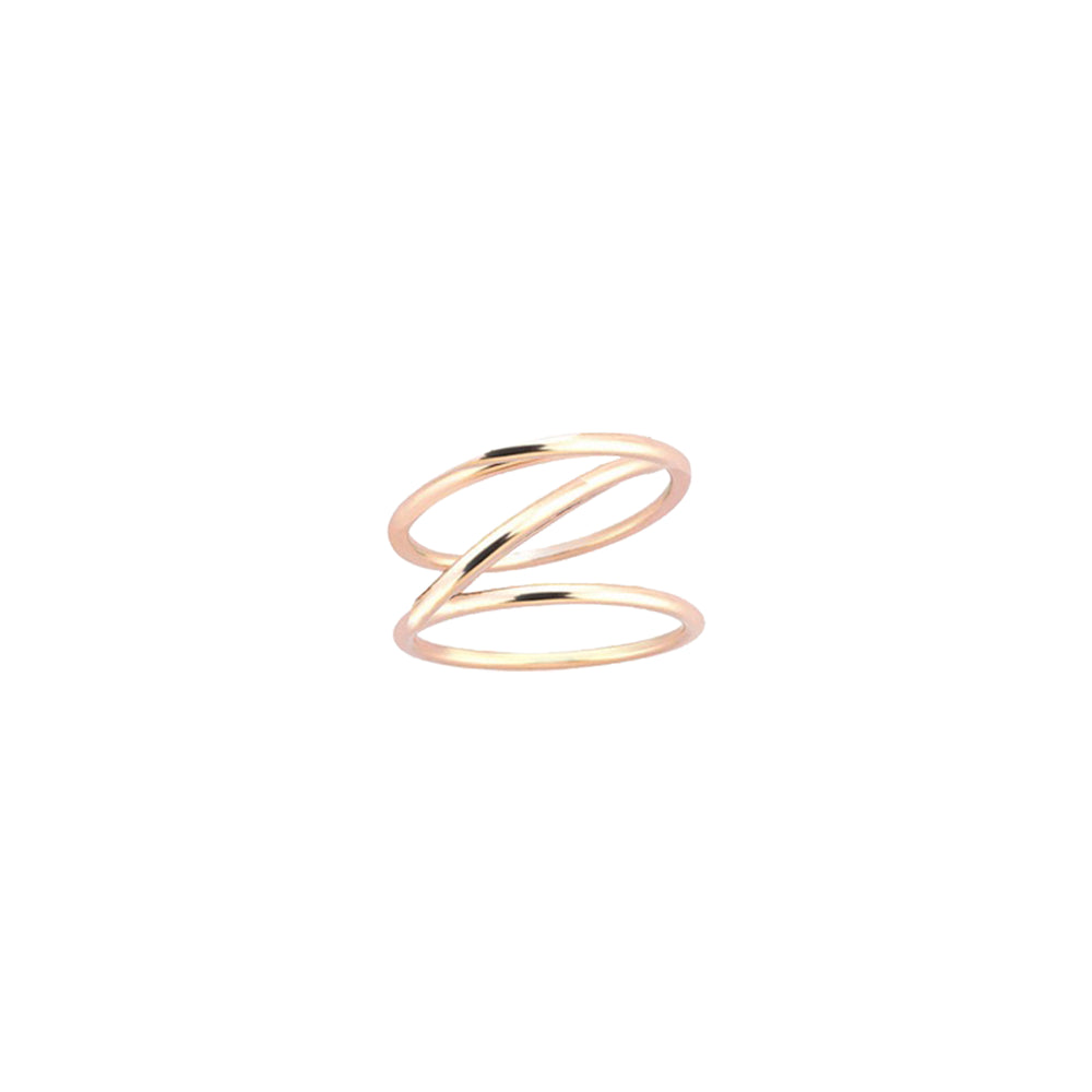 3 Row Ring - Gold