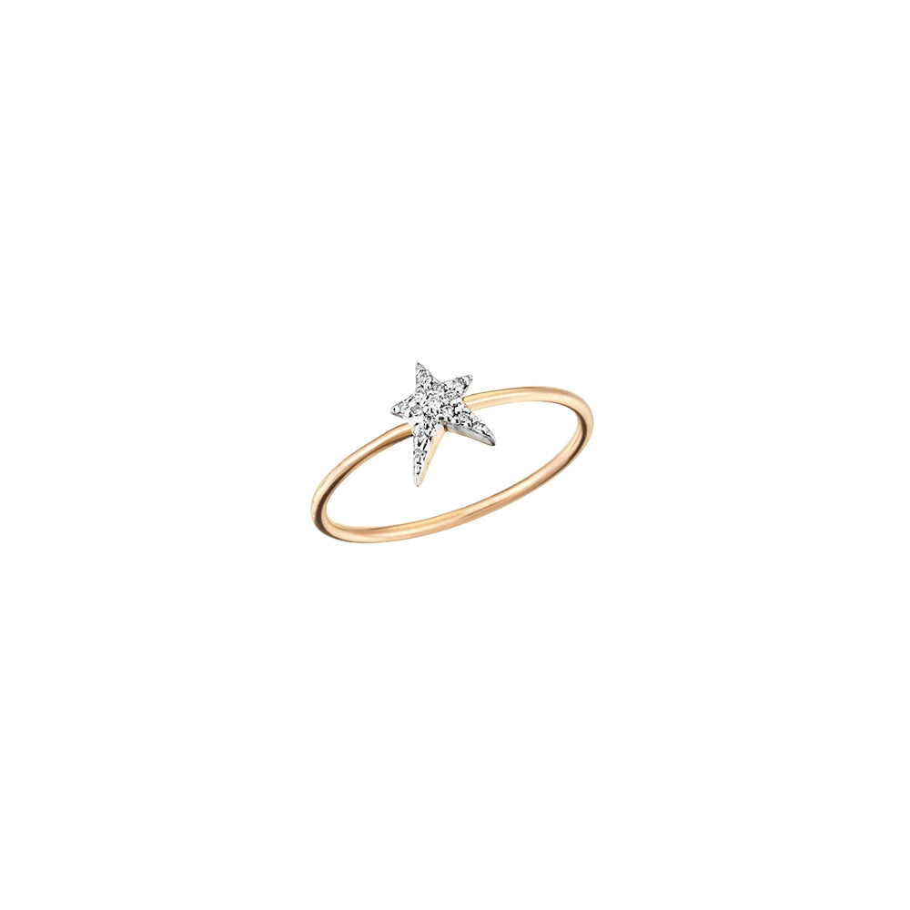 Struck Small Ring - White Diamond