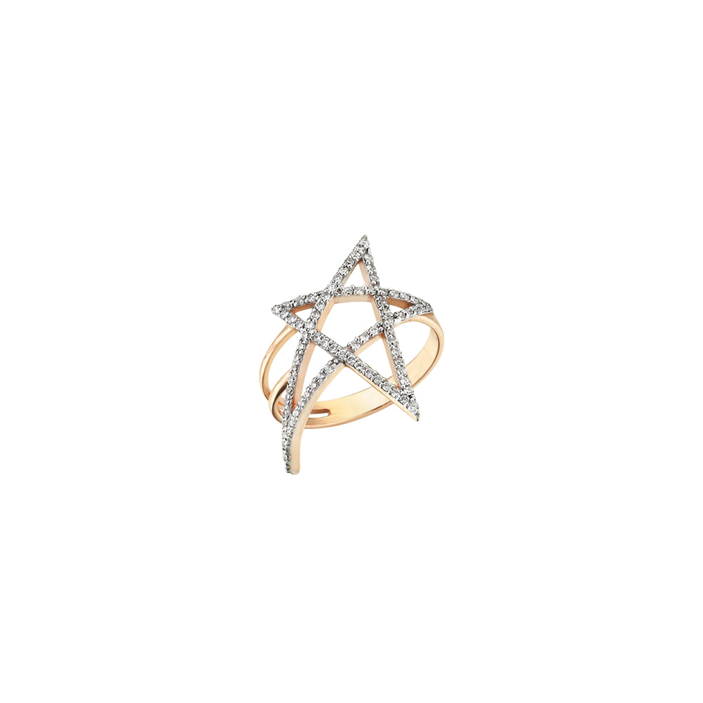 Struck Doodle Star Ring - White Diamond