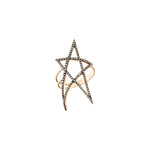 Struck Doodle Star Ring XL Size - Champagne Diamond