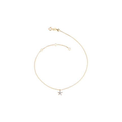 Mini Sheriff Star Anklet