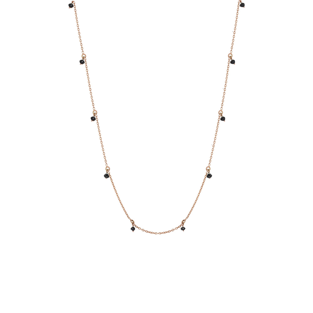 Chain Necklace - Black Diamond