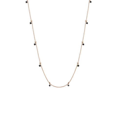 Black Diamond Chain Necklace (60cm)