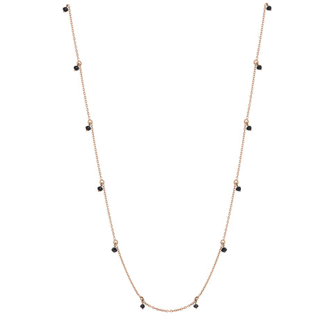 Black Diamond Chain Necklace (75cm)
