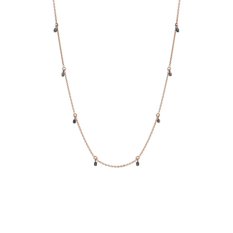 Grey Diamond Chain Necklace (45cm)