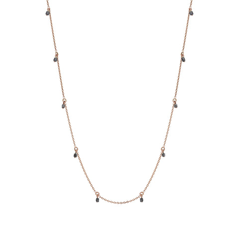 Grey Diamond Chain Necklace (60cm)