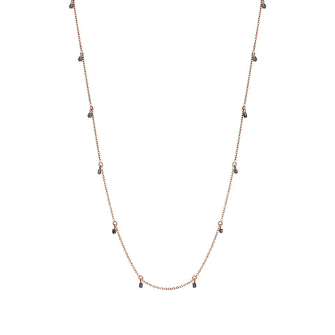 Grey Diamond Chain Necklace (75cm)