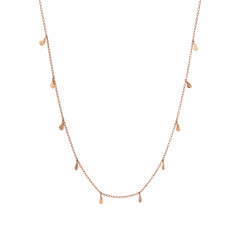 Drop Seed Necklace (50cm) - Gold