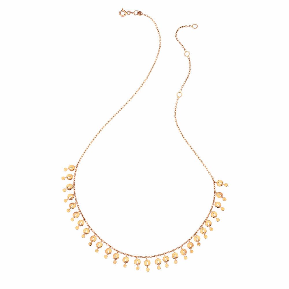 Swinging Pomegranate Seed Necklace - Gold