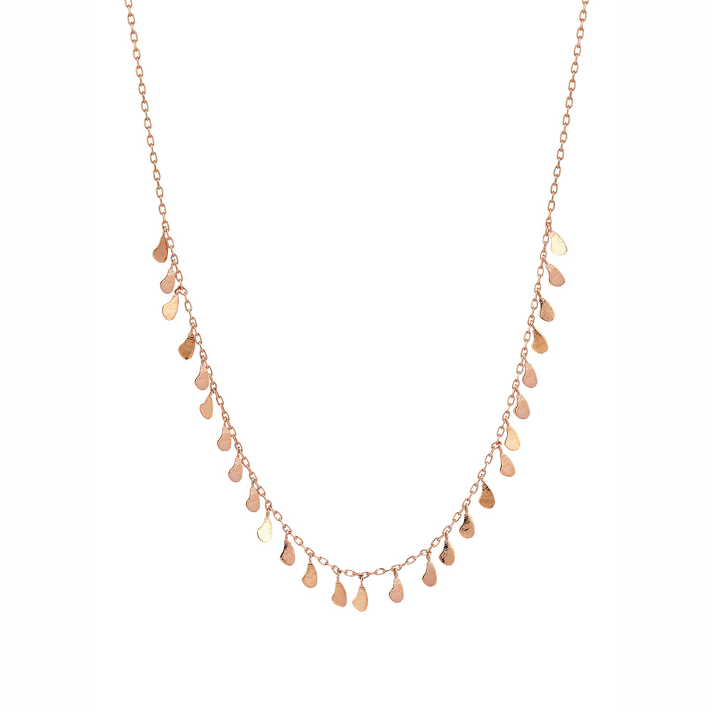 Drop Seed Necklace - Gold