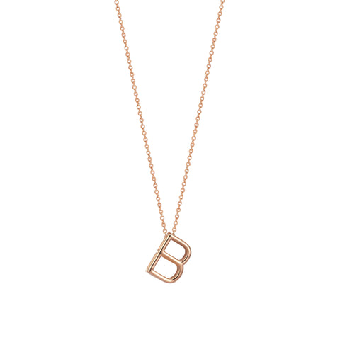B Cubic Big Size Necklace - Gold