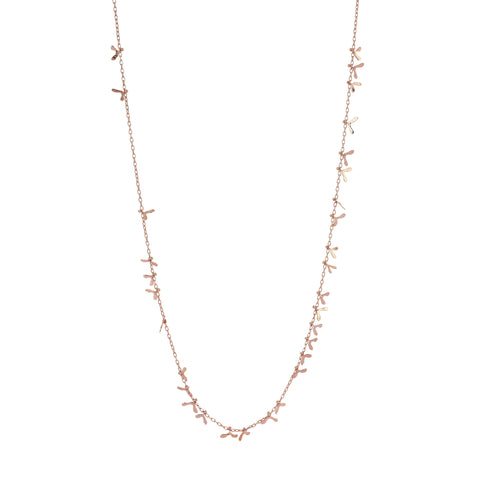 Daphne Seed Necklace Rose Gold