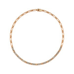 Beads Single Row Choker - White Diamond