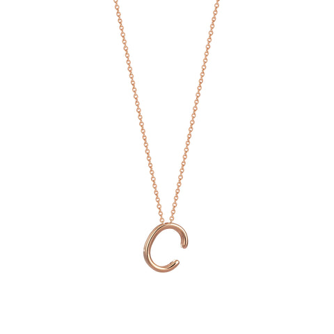 C Cubic Big Size Necklace - Gold
