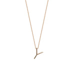 Letter Cubic Big Size Necklace - Gold