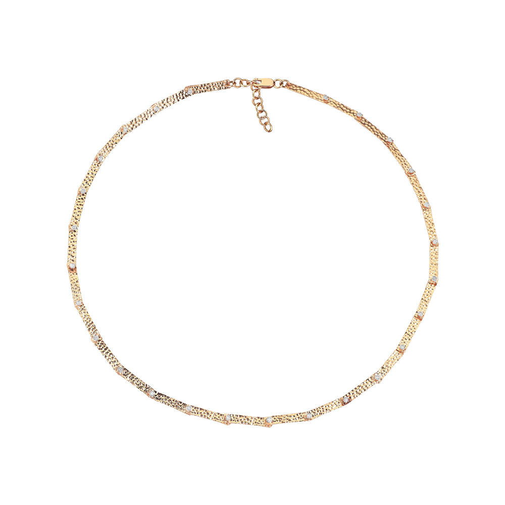 Full Moving Bars Solitaires Necklace