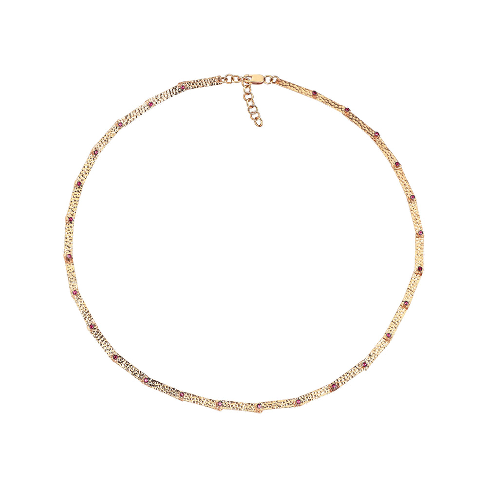 Full Moving Bars 26 Solitaires Necklace